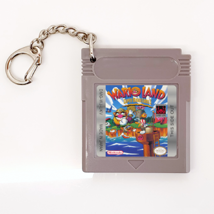 Wario Land Super Mario Land 3 Replica Cartridge Keyring